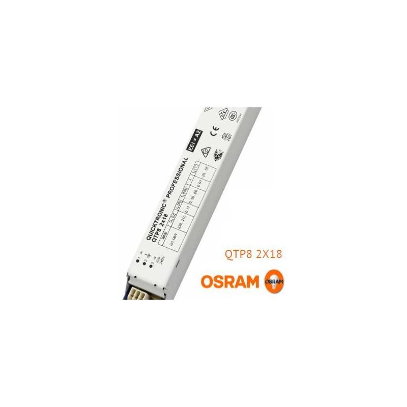 Balasto fluorescente 2x18w QTP8 electronico Osram Quicktronic Professional