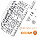Balasto fluorescente 2x26-42w QTM electronico Osram Quicktronic Multiwatt