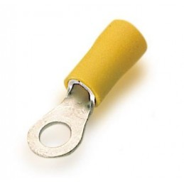 Terminal preaislado redondo amarillo de 6mm2 diametro del agujero 6mm