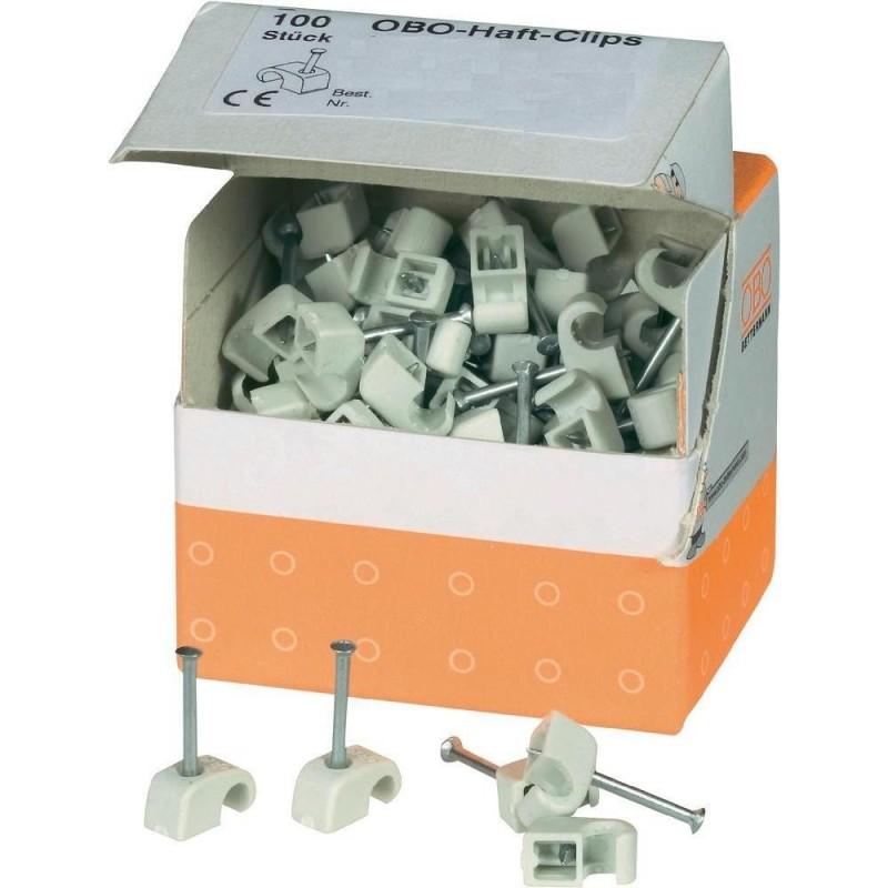 100 Grapas Nº6 para cable electrico redondo OBO 2225417