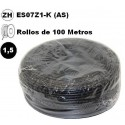Cable flexible 1x1.5mm2 negro libre halogenos 750v 100 Metros