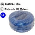 Cable flexible 1x1.5mm2 azul libre halogenos 750v 100 Metros