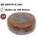 Cable flexible 1x1.5mm2 marron libre halogenos 750v 100 Metros