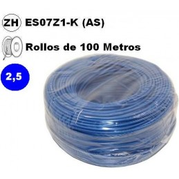 Cable flexible 1x2.5mm2 azul libre halogenos 750v 100 Metros