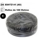 Cable flexible 1x6mm2 negro libre halogenos 750v 100 Metros