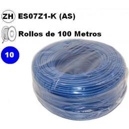 Cable flexible 1x10mm2 azul libre halogenos 750v Miguelez 100 Metros