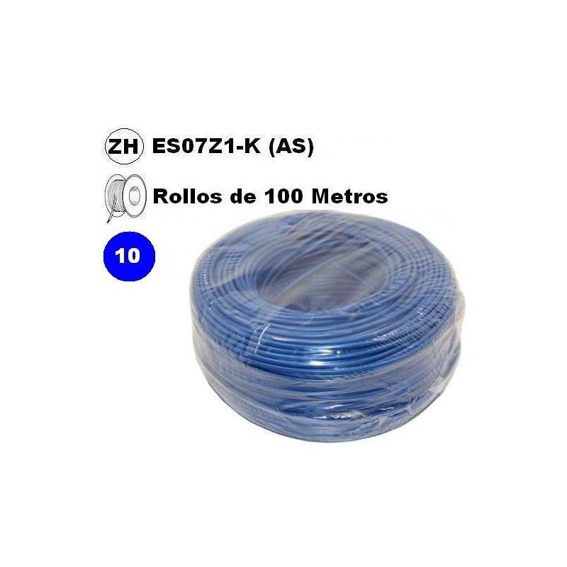 Cable flexible 1x10mm2 azul libre halogenos 750v 100 Metros