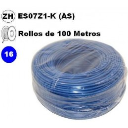 Cable flexible 1x16mm2 azul libre halogenos 750v 100 Metros