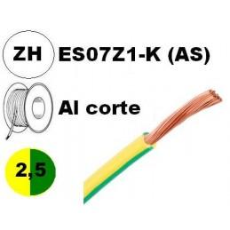 Cable flexible 1x2.5mm2 tierra libre halogenos 750v Al Corte