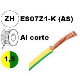 Cable flexible 1x1.5mm2 tierra libre halogenos 750v Al Corte