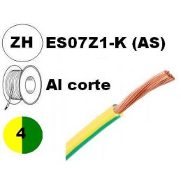 Cable flexible 1x4mm2 tierra libre halogenos 750v Miguelez Al Corte