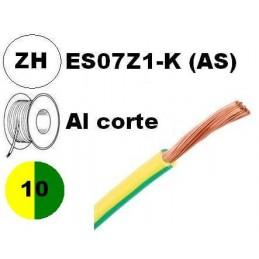 Cable flexible 1x10mm2 tierra libre halogenos 750v Miguelez Al Corte