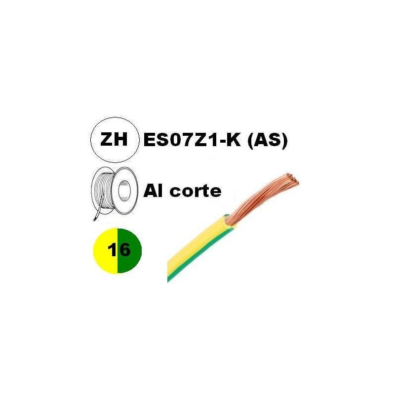 Cable flexible 1x16mm2 tierra libre halogenos 750v Al Corte