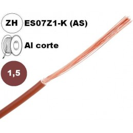 Cable flexible 1x1.5mm2 marron libre halogenos 750v Al Corte