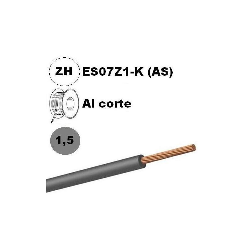 Cable flexible 1x1.5mm2 gris libre halogenos 750v Al Corte