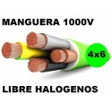 Manguera 1000v 4x6mm2 flexible libre halogenos RZ1-K AS 0,6/1KV Al Corte