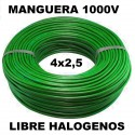 Manguera 1000v 4x2.5mm2 flexible libre halogenos RZ1-K AS 0,6/1KV 100 Metros