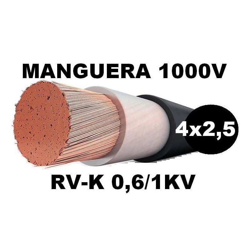 Manguera 1000v 4x2.5mm2 flexible pvc RV-K 0,6/1KV Al Corte