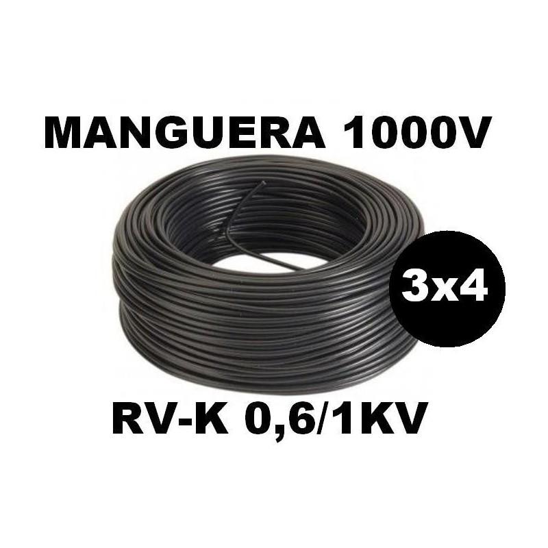 Manguera 1000v 3x4mm2 flexible pvc RV-K 0,6/1KV 100 Metros
