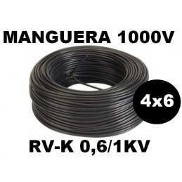 Manguera 1000v 4x6mm2 flexible pvc RV-K 0.6/1KV 100 Metros