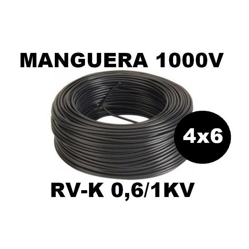Manguera 1000v 4x6mm2 flexible pvc RV-K 0,6/1KV 100 Metros