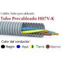 Tubo precableado 20mm + Cable flexible 750v 4x1.5mm2 a+n+t+m H07V-K Rollo 50 Mts
