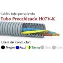 Tubo precableado 20mm + Cable flexible 750v 5x1.5mm2 a+n+t+g+g H07V-K Rollo 50 Mts