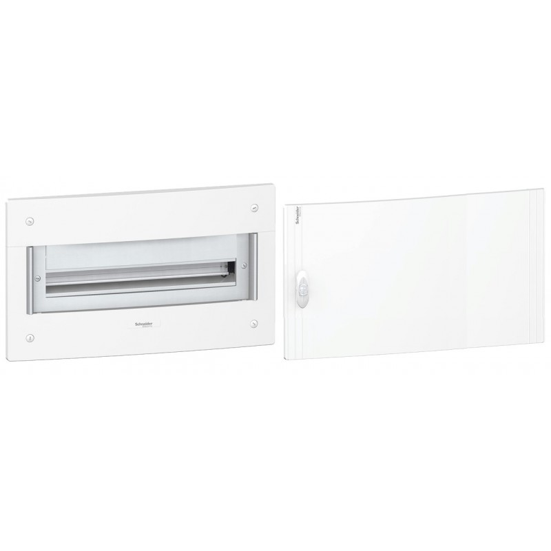 Caja automaticos empotrar 1 fila 13 elementos puerta opaca Schneider Electric