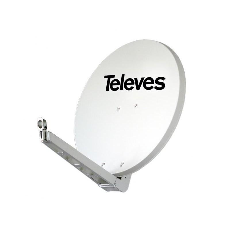 Antena parabolica 75cm blanca OFFSET HQ alta calidad Televes 790201