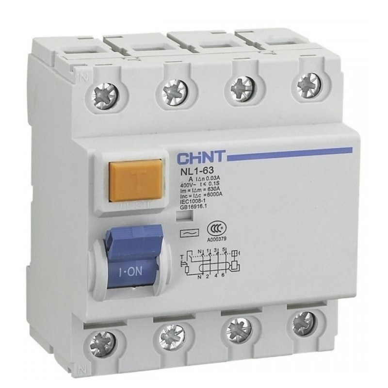 Interruptor Diferencial 4P 40Amp 30mA Chint NL1-4-40-30AC