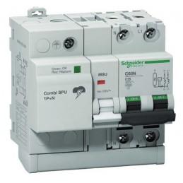 Protector sobretensiones combinado SPU 1P+N 40A Schneider 16303