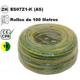 Cable flexible 1x16mm2 tierra libre halogenos 750v CE CPR 100 Metros