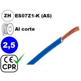 Cable flexible 1x2.5mm2 azul libre halogenos 750v CE CPR Al Corte