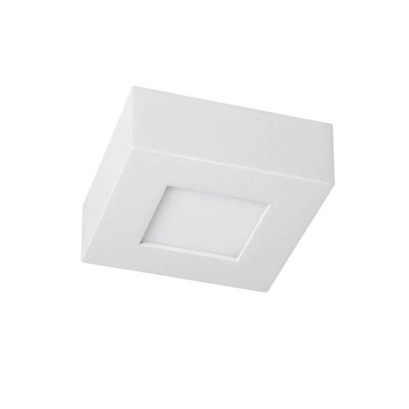 Downlight Led Cuadrado 6W Superficie Blanco Luz Blanco Frio 5500-6000K Ecolux EC3502