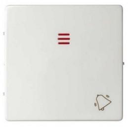 Tecla pulsador timbre simbolo campana con visor ancha blanca Serie 82 Simon 82015-30