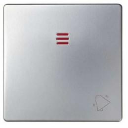 Tecla pulsador timbre simbolo campana con visor ancha aluminio Serie 82 Simon 82015-33