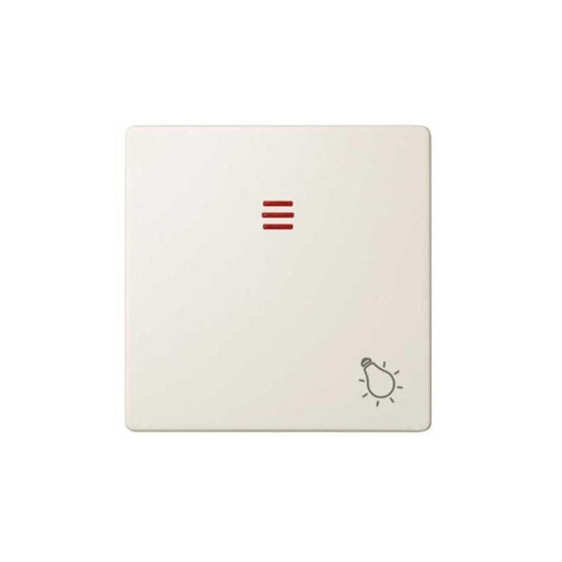 Tecla pulsador luz simbolo luz con visor ancha marfil Serie 82 Simon 82016-31