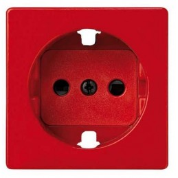 Tapa enchufe schuko TT seguridad roja Serie 82 Simon 82041-37