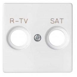 Tapa toma R-TV SAT ancha blanca Serie 82 Simon 82097-30