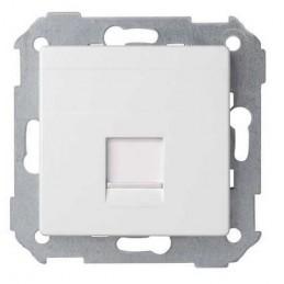 Tecla para 1 conector AMP ancha blanca Serie 82 Simon 82005-30