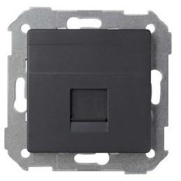 Tecla para 1 conector AMP ancha grafito Serie 82 Simon 82005-38