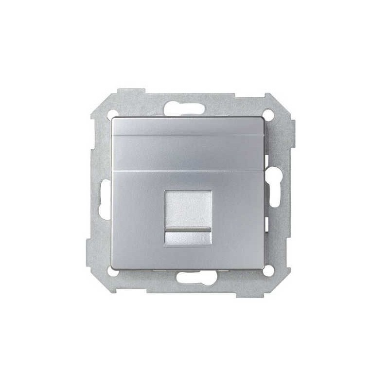 Tecla para 1 conector AMP ancha aluminio Serie 82 Simon 82005-33