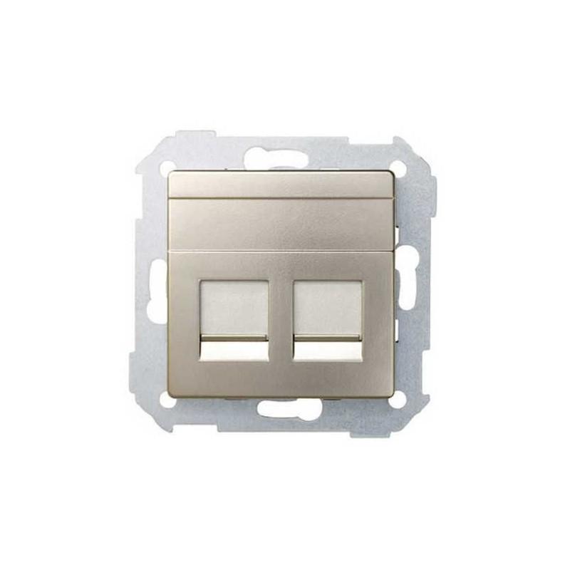 Tecla para 2 conectores AMP ancha cava Serie 82 Simon 82006-34