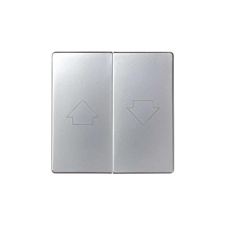 Tecla grupo 2 pulsadores persiana ancha aluminio Serie 82 Simon 82028-33