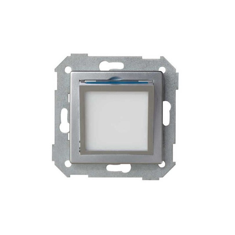 Tapa baliza de cortesia ancha aluminio Serie 82 Simon 82036-33