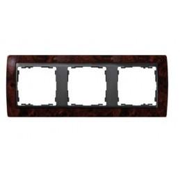 Marco 3 elementos raiz nogal zocalo grafito Serie 82 Simon 82835-68