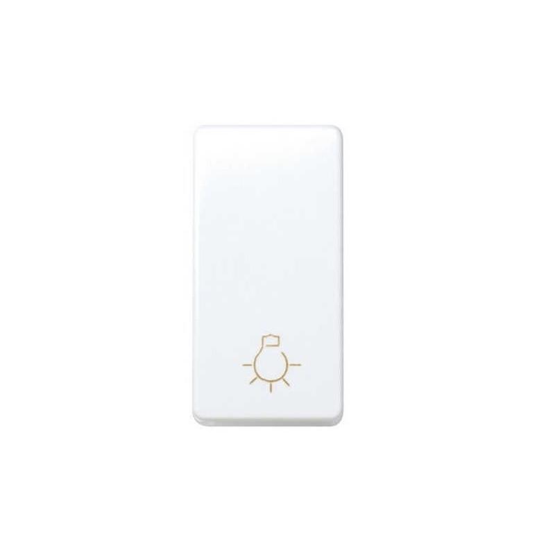 Pulsador simbolo luz estrecho blanco Simon 27151-64