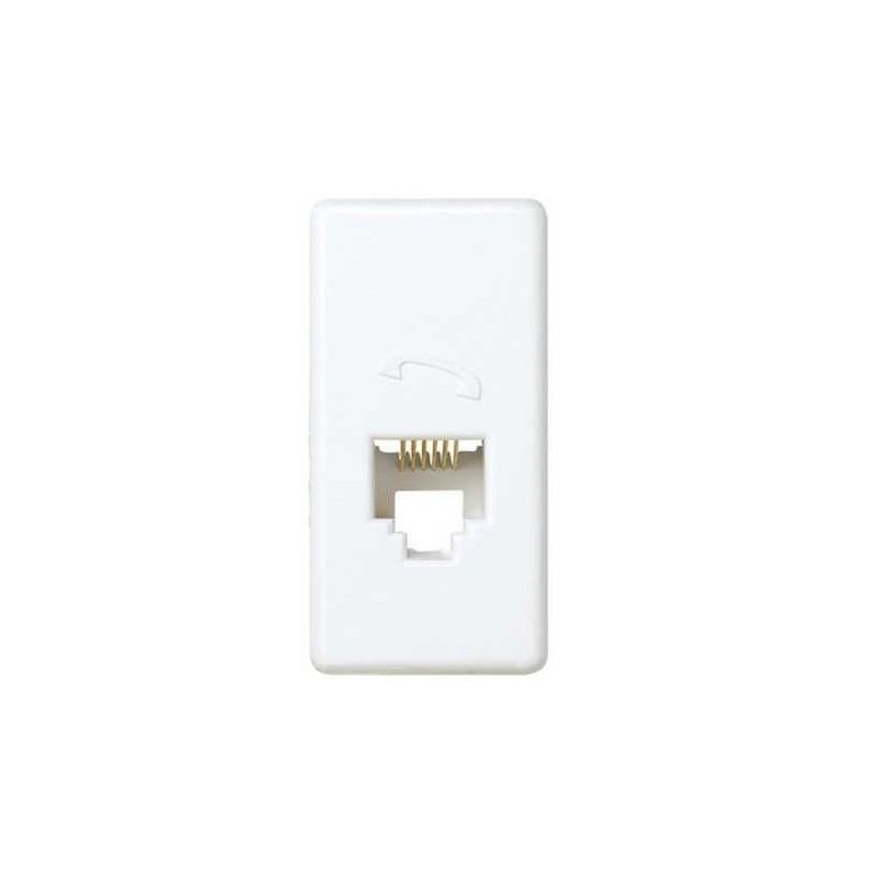 Toma de telefono RJ12 6 contactos estrecha blanca Simon 27481-34