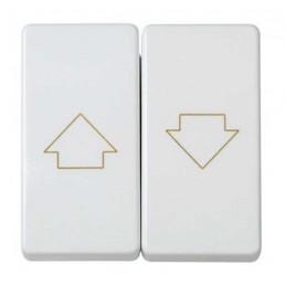 Grupo 2 interruptores persiana con enclavamiento blanco Simon 27332-35