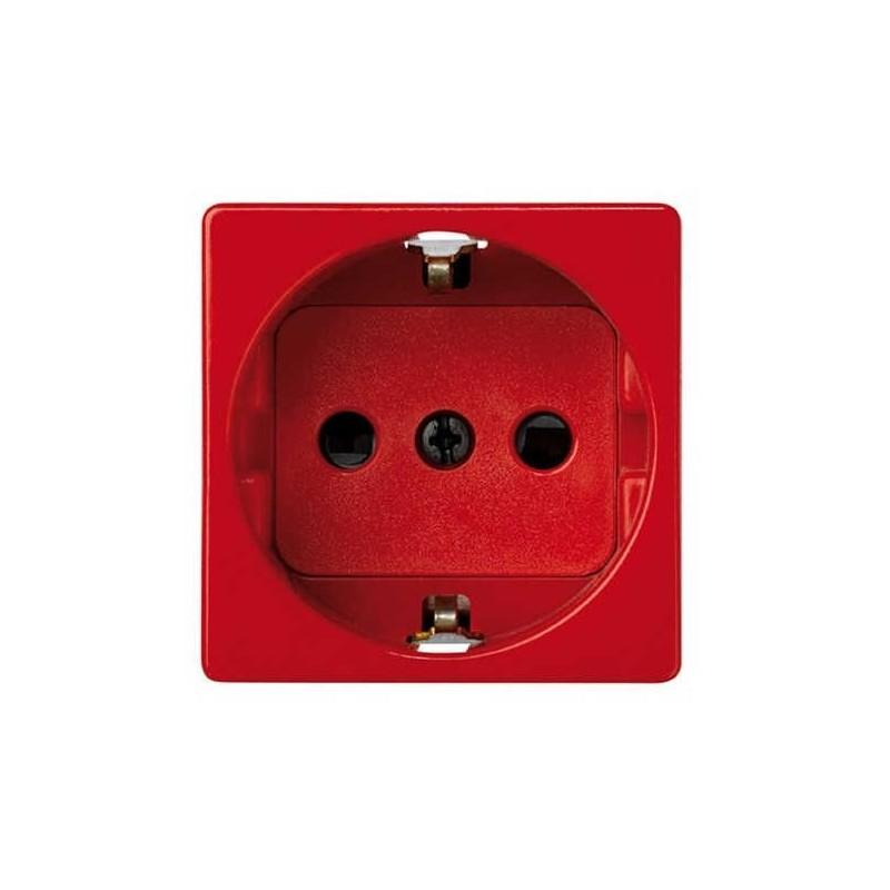 Base schuko 2P+TT 16A ancha roja con dispositivo de seguridad Simon 27432-68